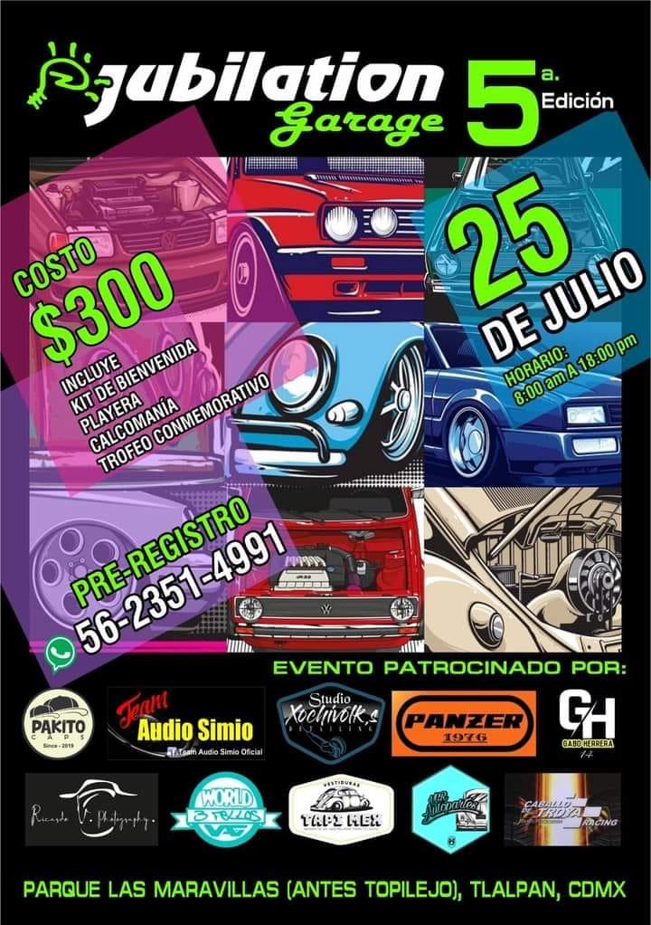 eventos de autos julio 2021 mexico